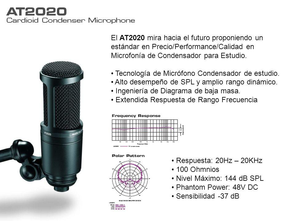 El AT2020 mira hacia el futuro proponiendo un estándar en Precio/Performance/Calidad en Microfonía de Condensador para Estudio. Tecnología de Micrófon