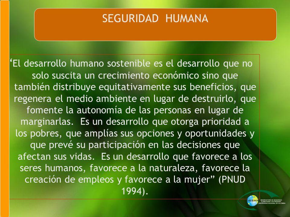 El desarrollo humano sostenible es el desarrollo que no solo suscita un crecimiento económico sino que también distribuye equitativamente sus benefici