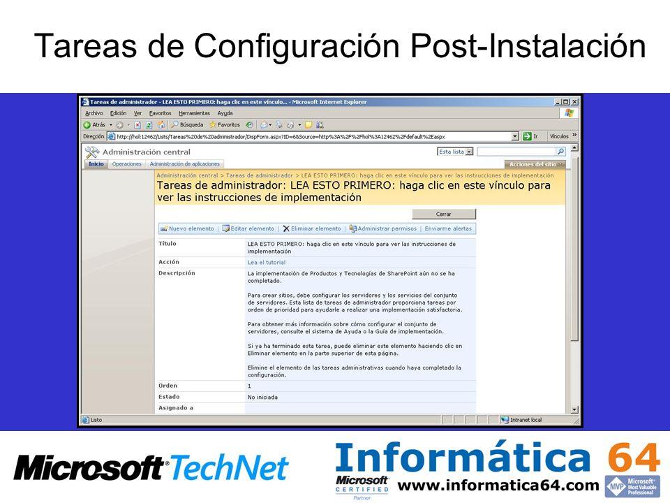 Tareas de Configuración Post-Instalación