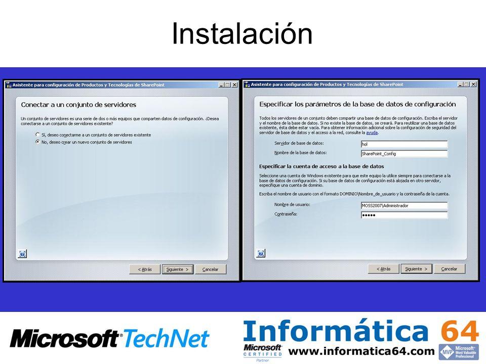 Utilizado para habilitar en los sitios la entrada de mensajes y documentos en las bibliotecas de documentos