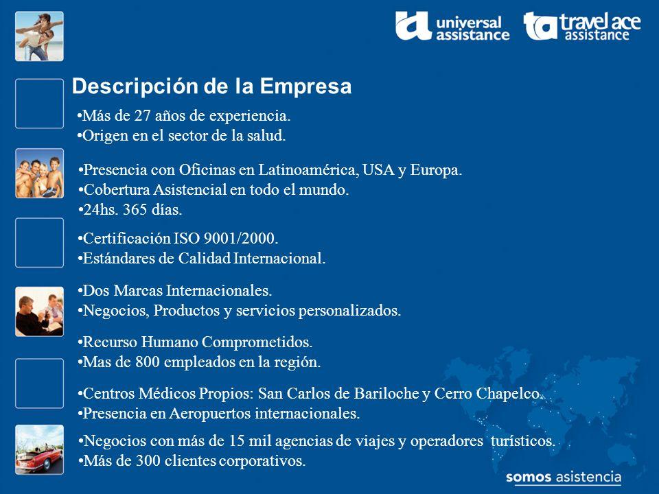 Principales Negocios de la Empresa Asistencia al Viajero.