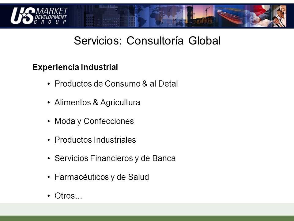 Experiencia Industrial Productos de Consumo & al Detal Alimentos & Agricultura Moda y Confecciones Productos Industriales Servicios Financieros y de Banca Farmacéuticos y de Salud Otros...