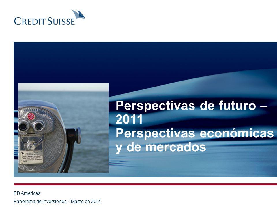 PB Americas Panorama de inversiones – Marzo de 2011 Perspectivas de futuro – 2011 Perspectivas económicas y de mercados