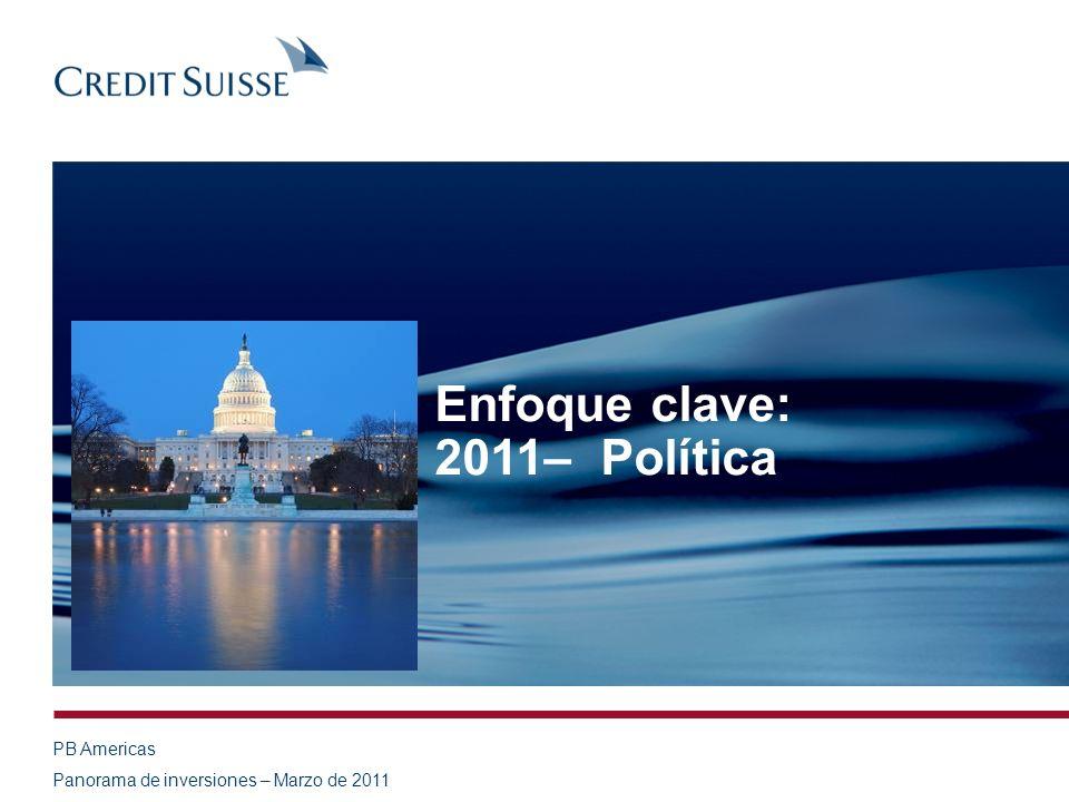 PB Americas Panorama de inversiones – Marzo de 2011 Enfoque clave: 2011– Política