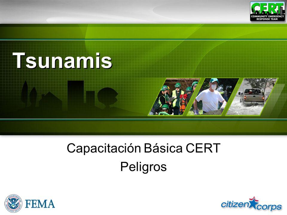 Tsunamis Capacitación Básica CERT Peligros