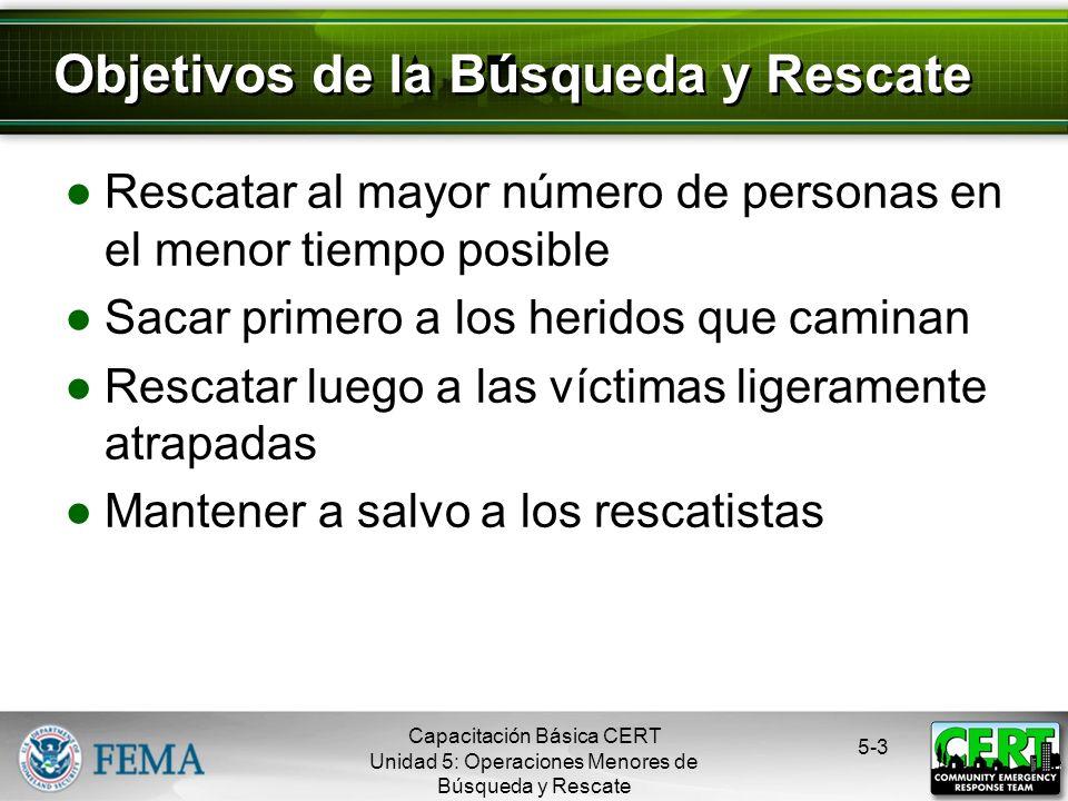 5-2 La decisión se basa en tres factores Los riesgos para los rescatistas El bien más grande para el mayor número Los recursos y el personal disponibl