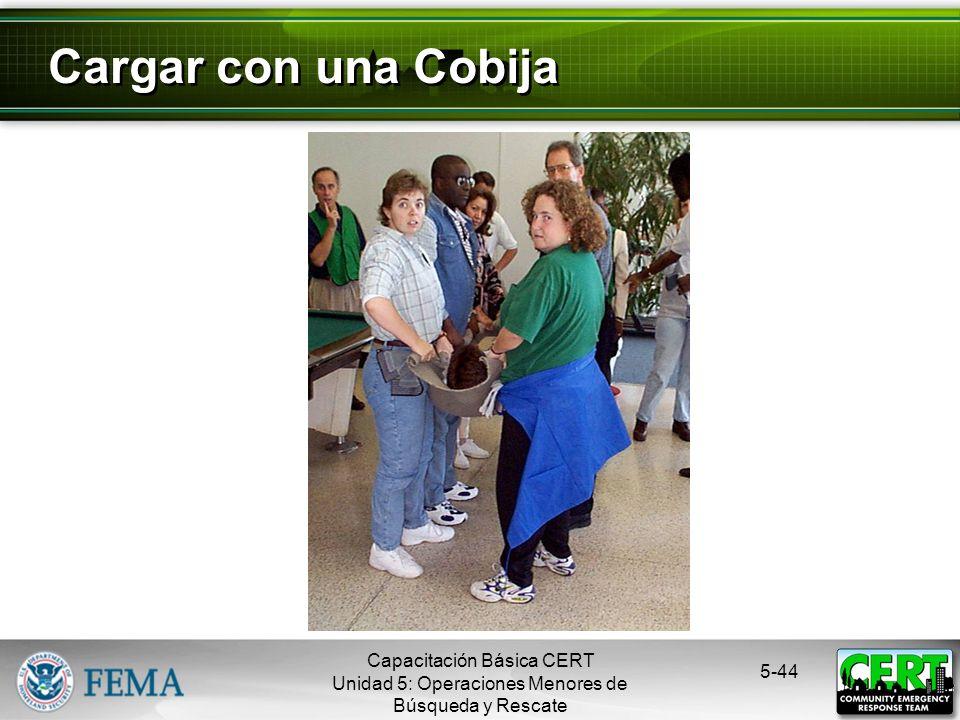 5-43 Cargar en Silla Capacitación Básica CERT Unidad 5: Operaciones Menores de Búsqueda y Rescate
