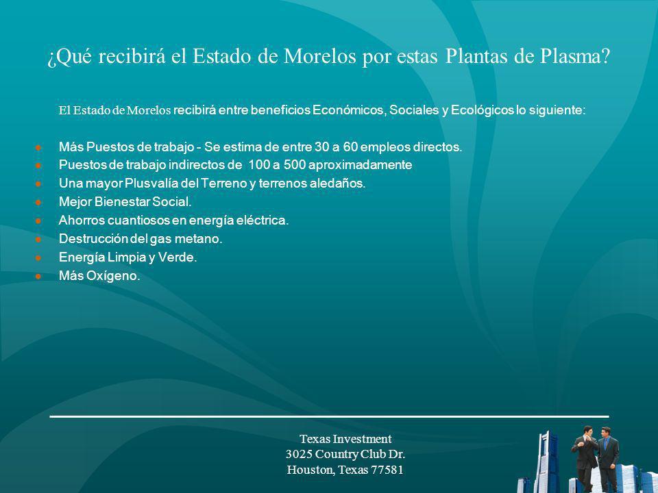 Aspectos Financieros Texas Investment 3025 Country Club Dr. Houston, Texas 77581