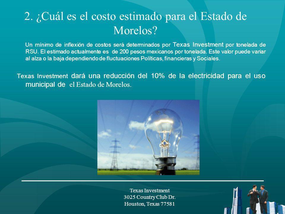 La venta de energía eléctrica producida por las Plantas de Plasma será a un precio mínimo de 19 centavos USD por KWH.