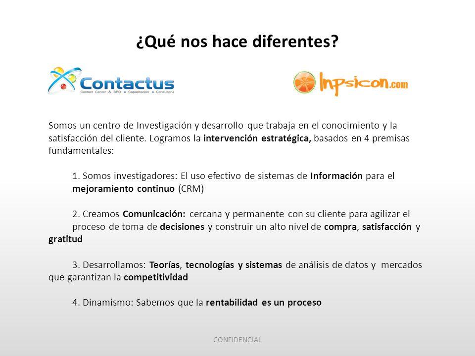 Somos un centro de Investigación y desarrollo que trabaja en el conocimiento y la satisfacción del cliente.