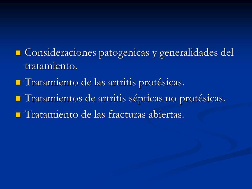 Consideraciones patogenicas y generalidades del tratamiento. Consideraciones patogenicas y generalidades del tratamiento. Tratamiento de las artritis