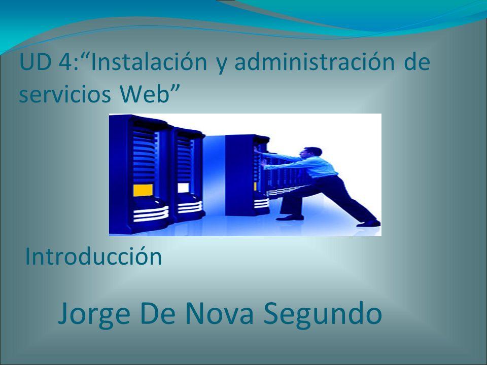 UD 4:Instalación y administración de servicios Web Introducción Jorge De Nova Segundo