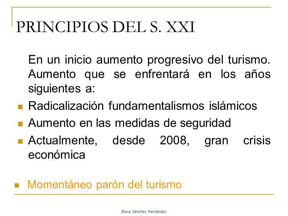 PRINCIPIOS DEL S. XXI En un inicio aumento progresivo del turismo. Aumento que se enfrentará en los años siguientes a: Radicalización fundamentalismos