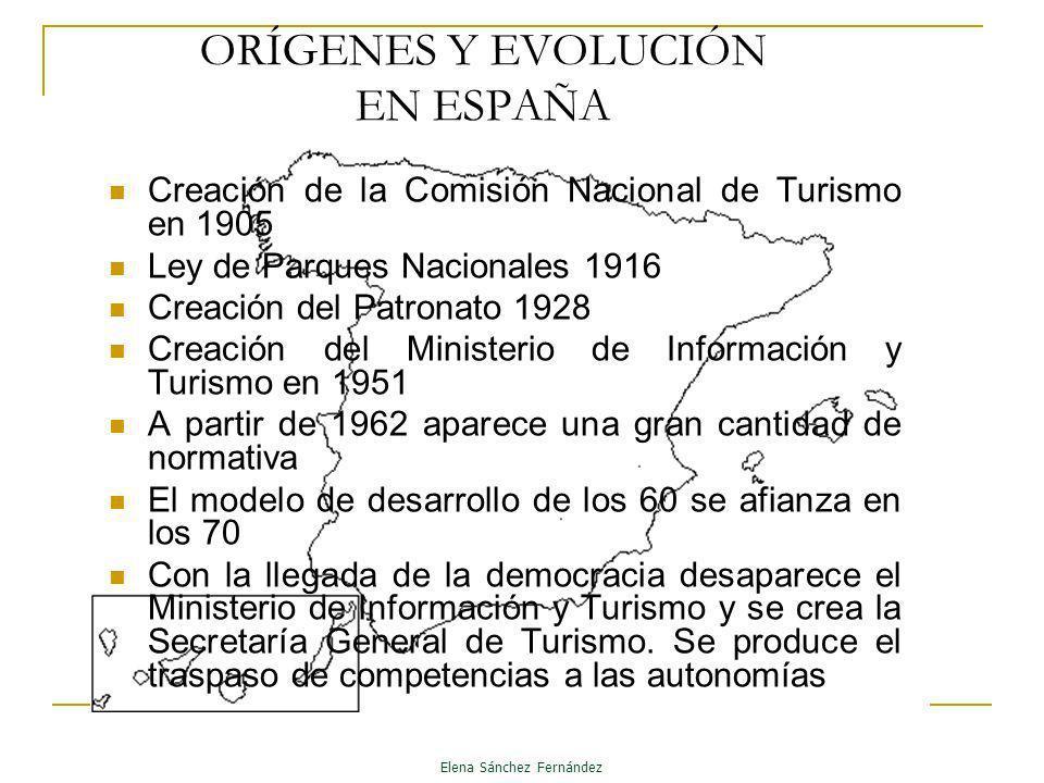 ORÍGENES Y EVOLUCIÓN EN ESPAÑA Creación de la Comisión Nacional de Turismo en 1905 Ley de Parques Nacionales 1916 Creación del Patronato 1928 Creación