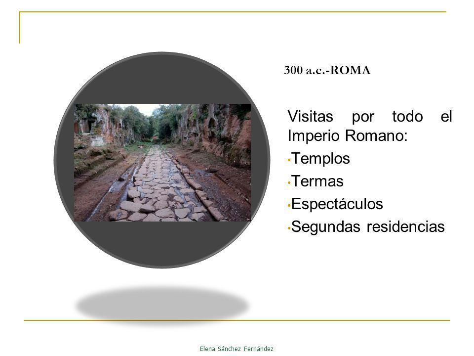 300 a.c.-ROMA Visitas por todo el Imperio Romano: Templos Termas Espectáculos Segundas residencias Elena Sánchez Fernández