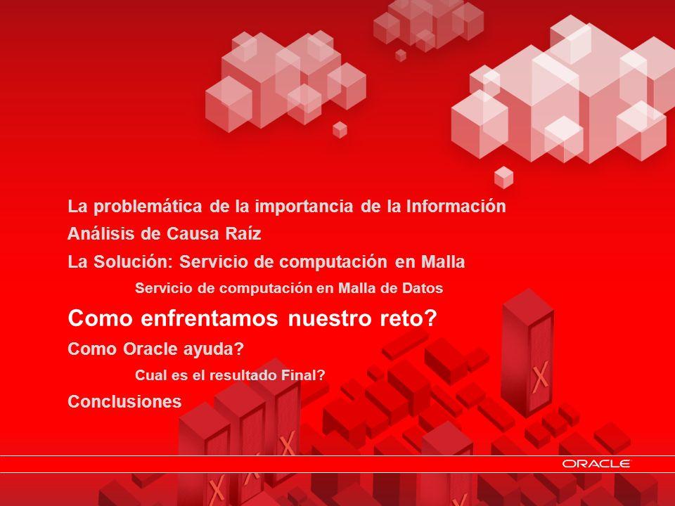 © 2011 Oracle Resuelva rápidamente sus necesidades de Desempeño, Disponibilidad, Escalabilidad y Confiabilidad en la Gestión de su información 12 La p