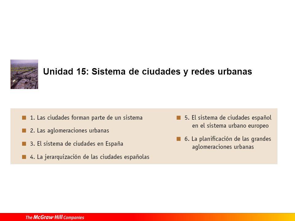 Unidad 15: Sistema de ciudades y redes urbanas