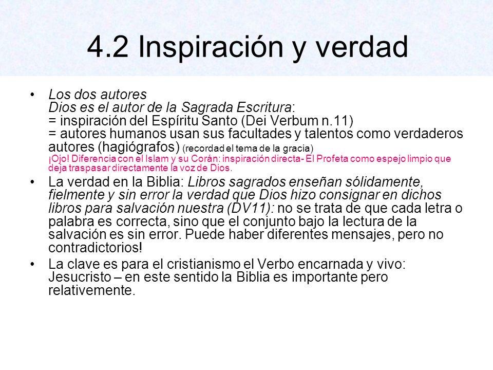 Criterios para la interpretación Interpretación de los autores (géneros literarios) Interpretar con el mismo Espíritu con que fue escrita: 1.