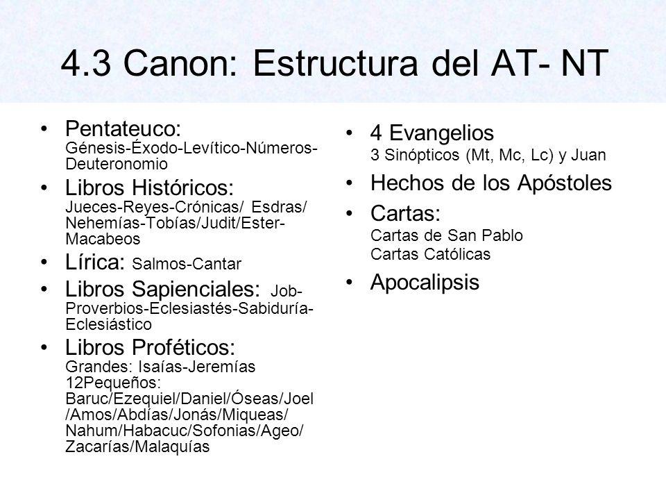 Canon de la Biblia 46 libros del AT 27 libros del NT Creemos en la unidad de la Biblia!!.