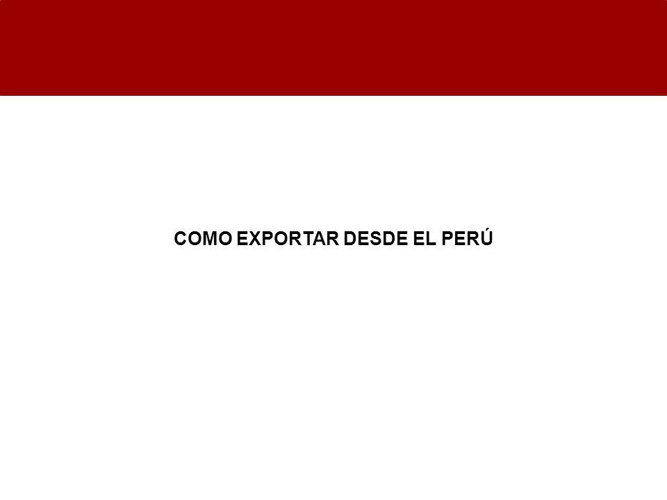 COMO EXPORTAR DESDE EL PERÚ