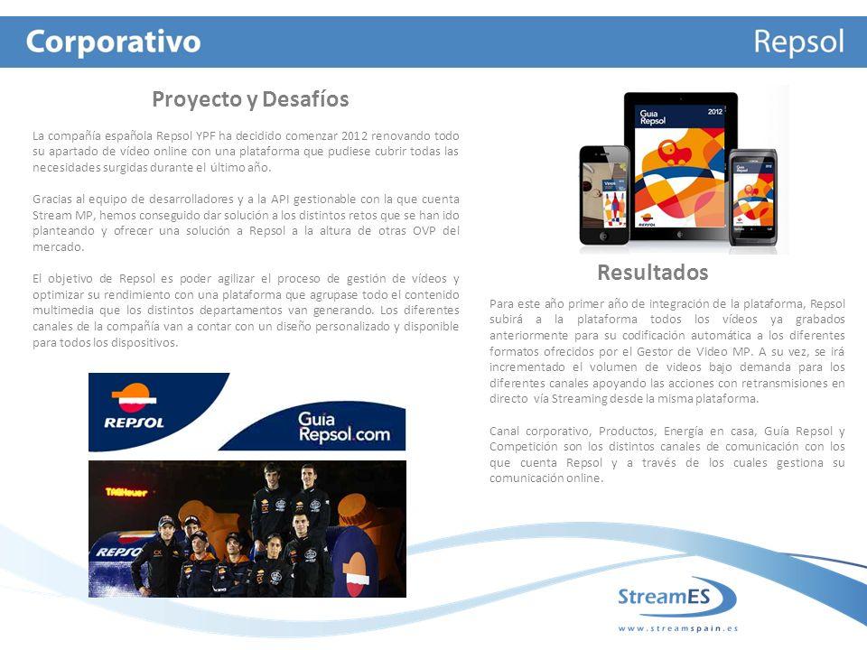 La compañía española Repsol YPF ha decidido comenzar 2012 renovando todo su apartado de vídeo online con una plataforma que pudiese cubrir todas las necesidades surgidas durante el último año.