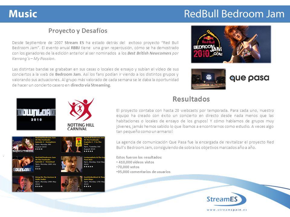 Desde Septiembre de 2007 Stream ES ha estado detrás del exitoso proyecto Red Bull Bedroom Jam.