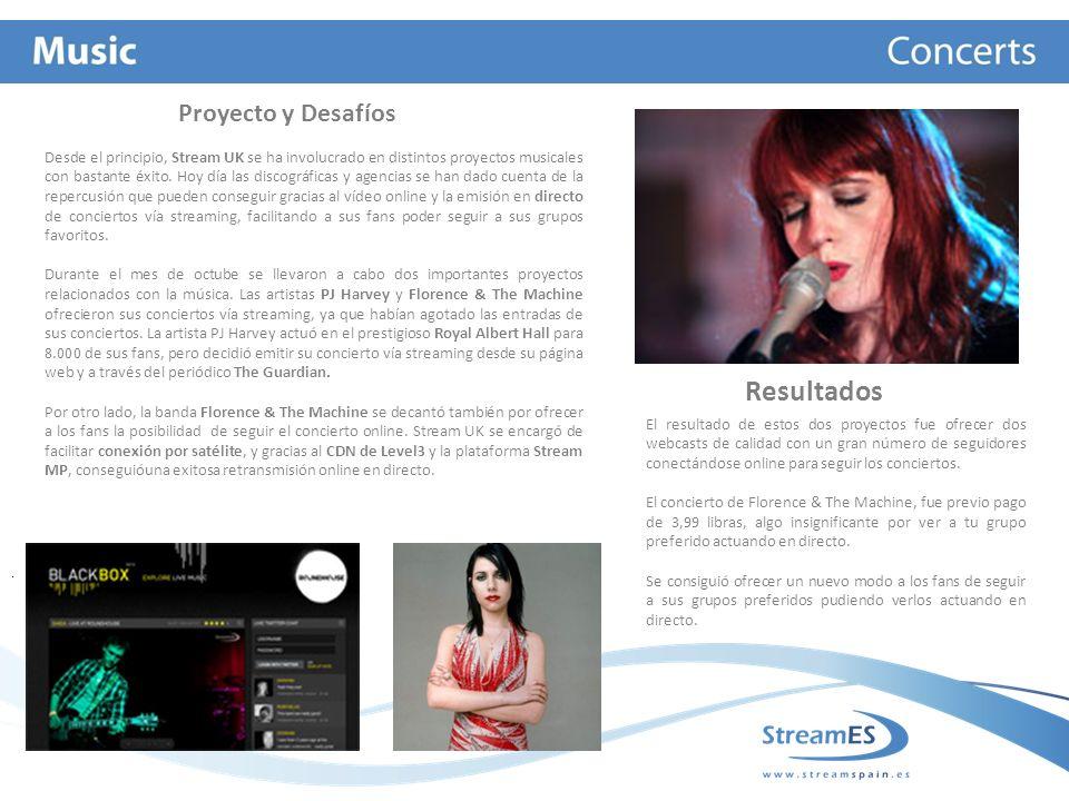 Desde el principio, Stream UK se ha involucrado en distintos proyectos musicales con bastante éxito.