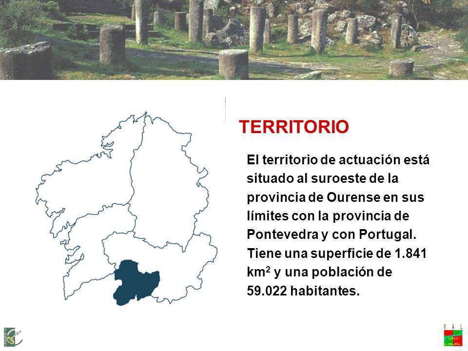 LEADER + VAL DO LIMIA-TERRA DE CELANOVA Territorio El territorio de actuación está situado al suroeste de la provincia de Ourense en sus límites con l