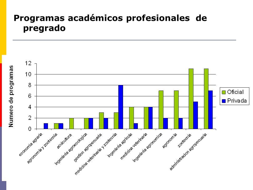 Programas académicos profesionales de pregrado