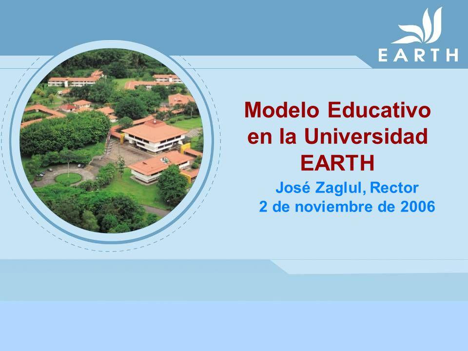 Modelo Educativo en la Universidad EARTH José Zaglul, Rector 2 de noviembre de 2006