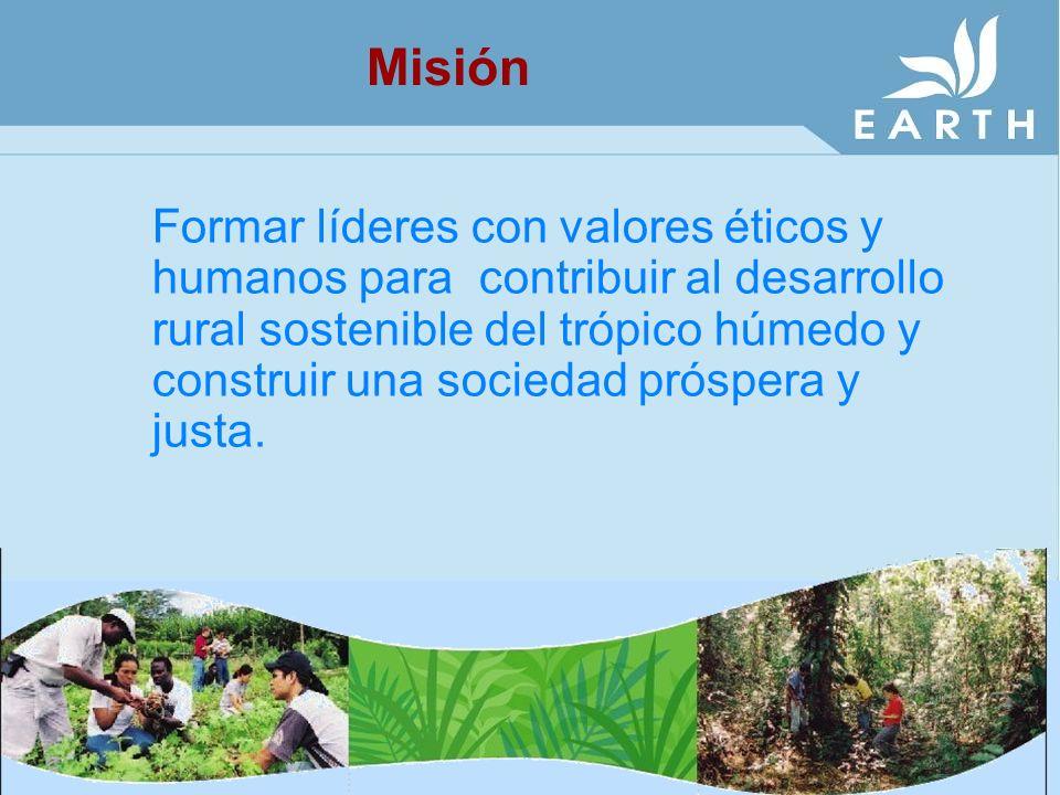 Encaminamos nuestras acciones hacia un futuro en que se alcance un bienestar social, económico y ambiental del trópico húmedo y sus comunidades.