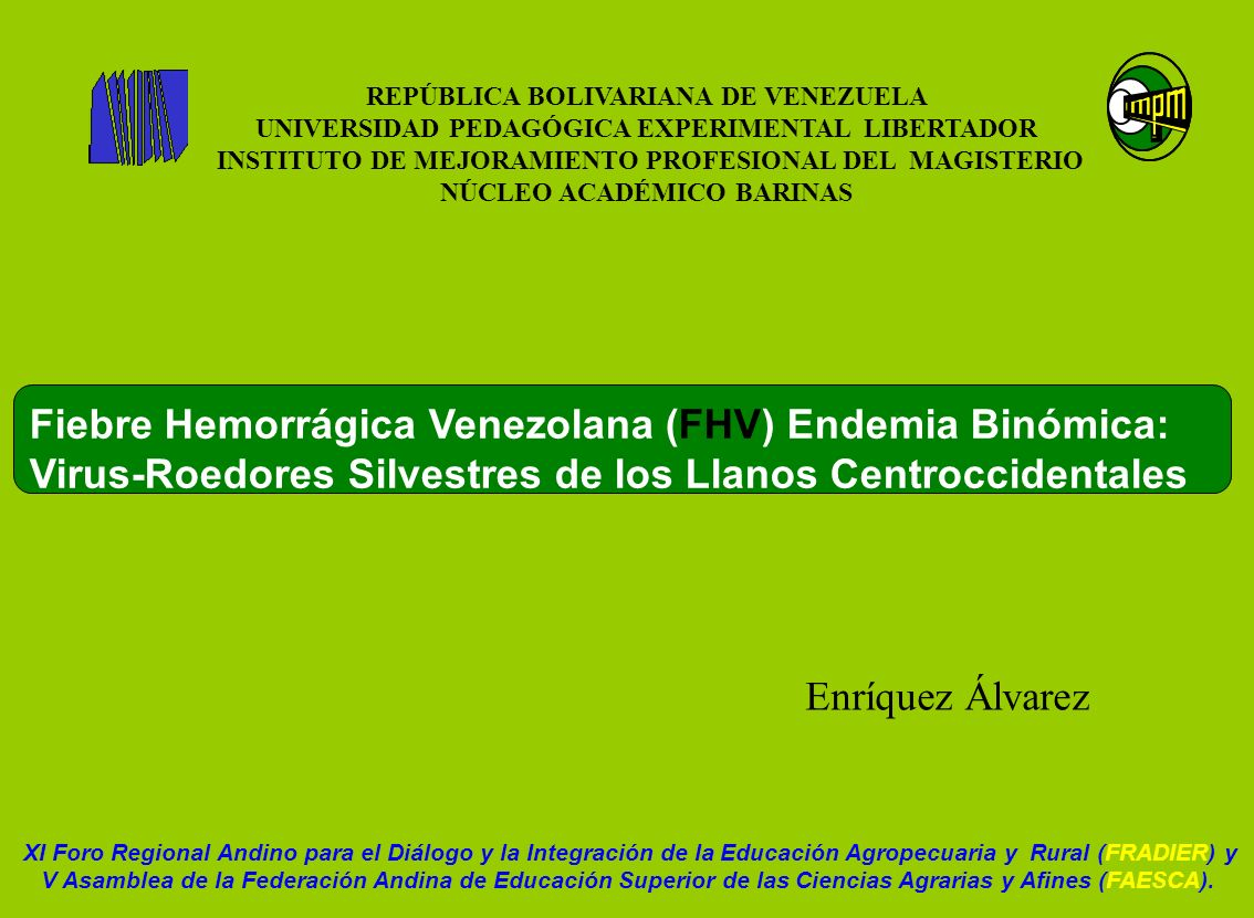REPÚBLICA BOLIVARIANA DE VENEZUELA UNIVERSIDAD PEDAGÓGICA EXPERIMENTAL LIBERTADOR INSTITUTO DE MEJORAMIENTO PROFESIONAL DEL MAGISTERIO NÚCLEO ACADÉMIC