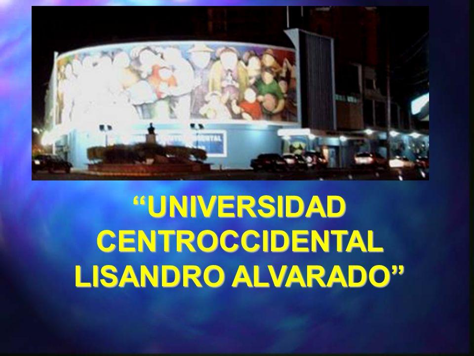 UNIVERSIDAD CENTROCCIDENTAL LISANDRO ALVARADO