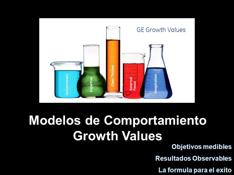 Modelos de Comportamiento Growth Values Objetivos medibles Resultados Observables La formula para el exito