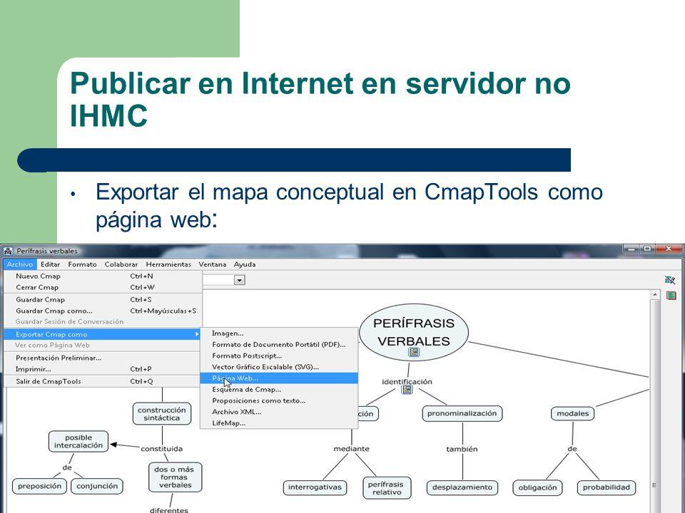 Publicar en un servidor IHMC 10.