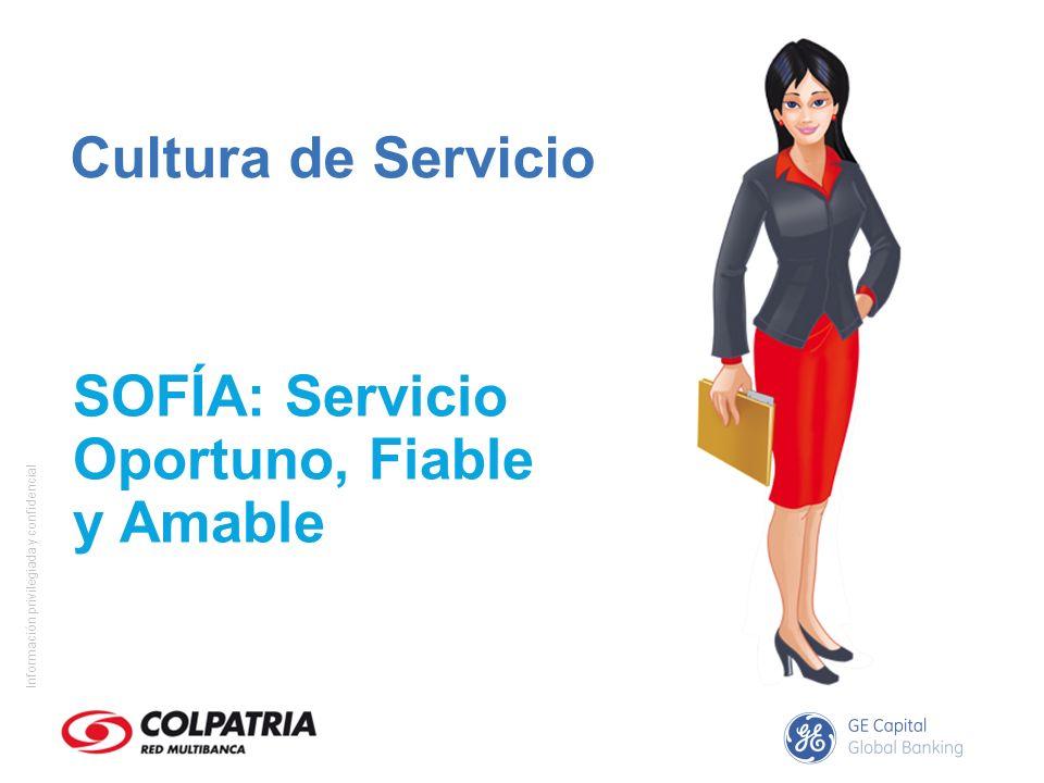 Información privilegiada y confidencial Fiable - Efectivo: Le suministra al cliente lo que se le ha ofrecido en los términos y condiciones ofertadas.