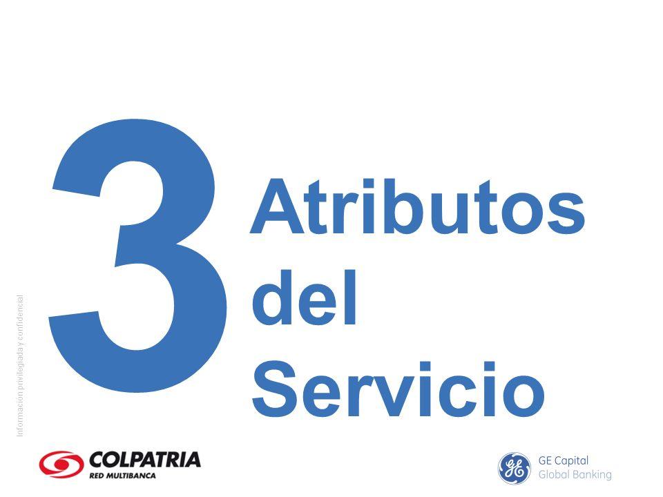 Información privilegiada y confidencial ¿Cuáles son las características o atributos que debe tener un servicio para garantizar satisfacción al cliente?
