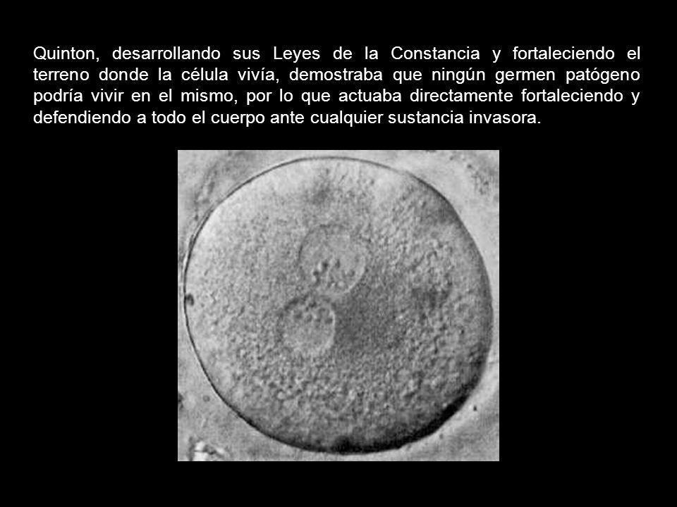 Mientras que el plasma de Quintón fortalecía el organismo en su conjunto, el suero de Pasteur, la vacuna, intentaba aniquilar un tipo de microorganism