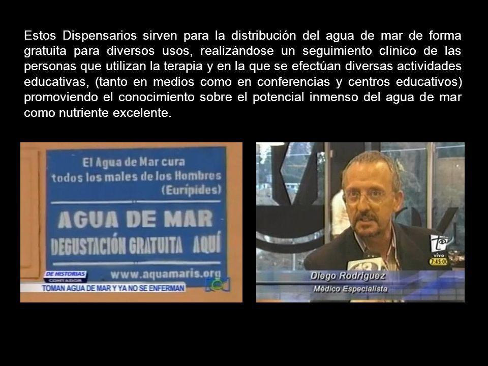 Laureano Alberto Domínguez, gran investigador colombiano, ha resucitado los Dispensarios de Quinton, emprendiendo conversaciones y alianzas en distint