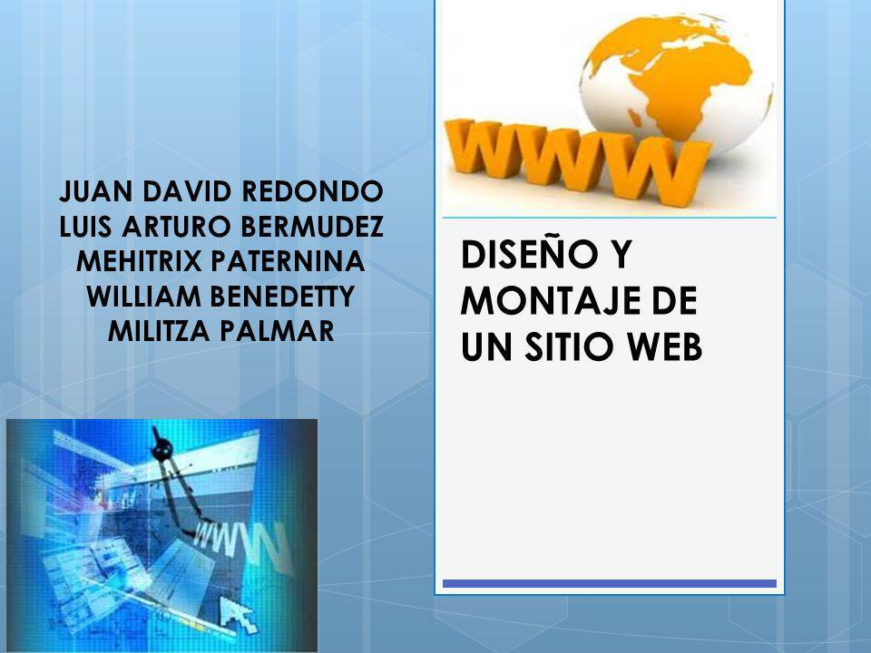 DISEÑO Y MONTAJE DE UN SITIO WEB OBJETIVO GENERAL Diseñar e implementar un sitio web en el departamento de La Guajira, que permita mejorar el aprendizaje, el buen uso y la importancia de las TIC en procesos académicos y administrativos de la comunidad.