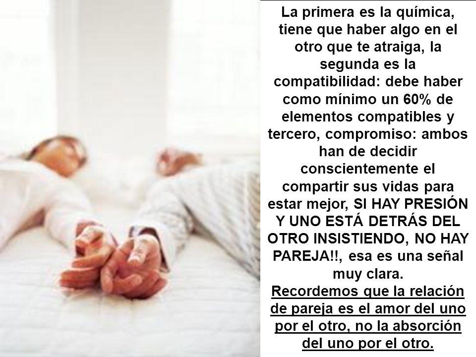 CONDICIONES OBLIGATORIAS PARA QUE HAYA … PAREJA !!