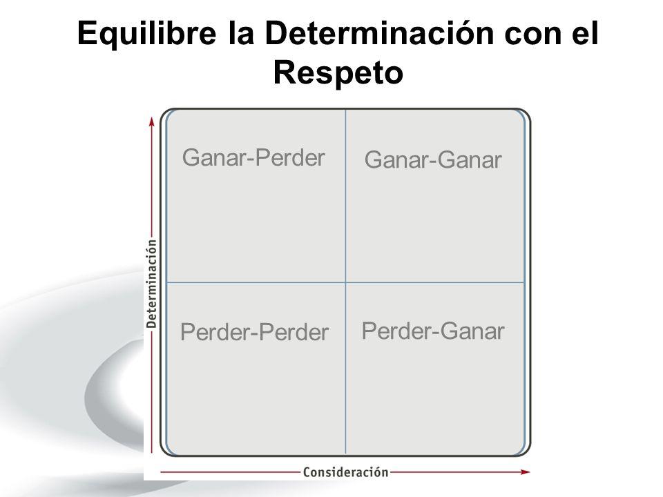 Equilibre la Determinación con el Respeto Ganar-Perder Ganar-Ganar Perder-Perder Perder-Ganar