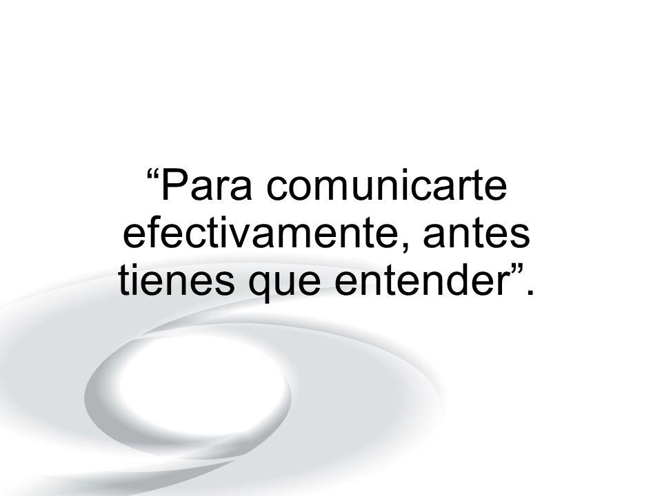 Para comunicarte efectivamente, antes tienes que entender.