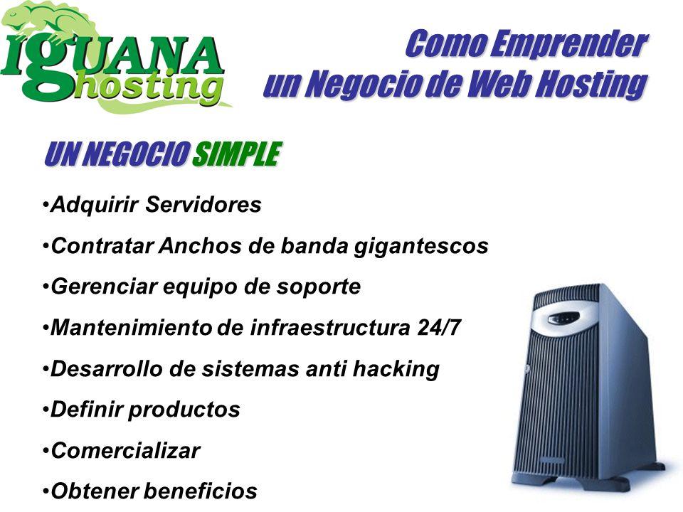 Como Emprender un Negocio de Web Hosting http://www.iguanahosting.com Gracias