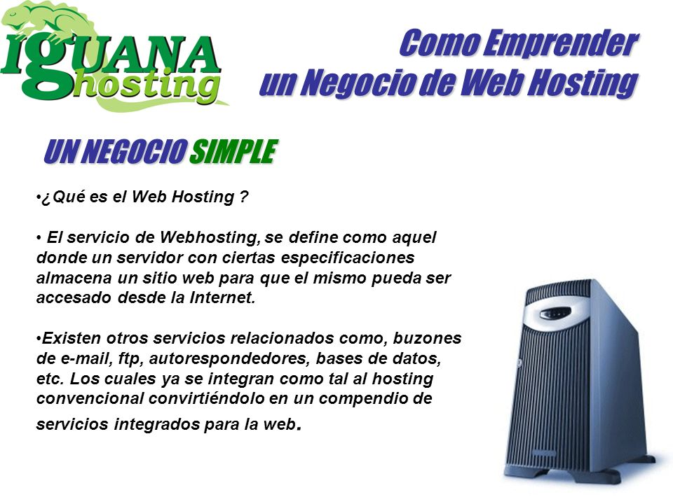 Como Emprender un Negocio de Web Hosting ¿Qué es el Web Hosting .