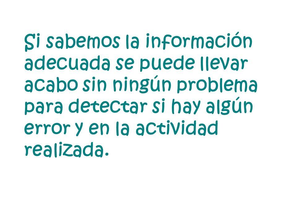 Si sabemos la información adecuada se puede llevar acabo sin ningún problema para detectar si hay algún error y en la actividad realizada.