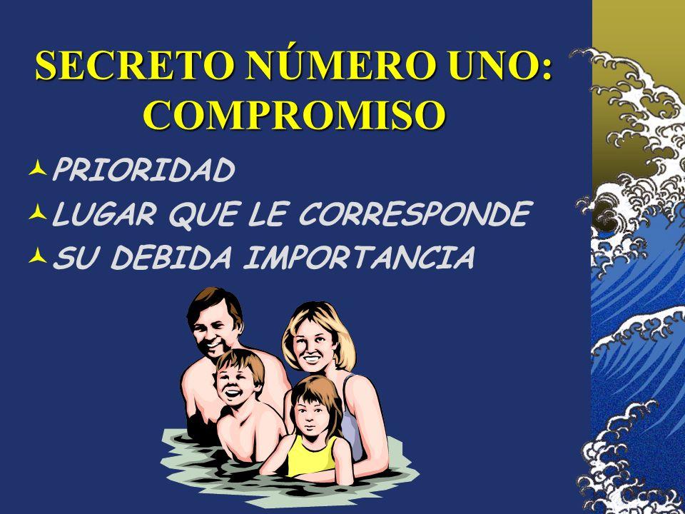 SECRETO NÚMERO UNO: COMPROMISO PRIORIDAD LUGAR QUE LE CORRESPONDE SU DEBIDA IMPORTANCIA