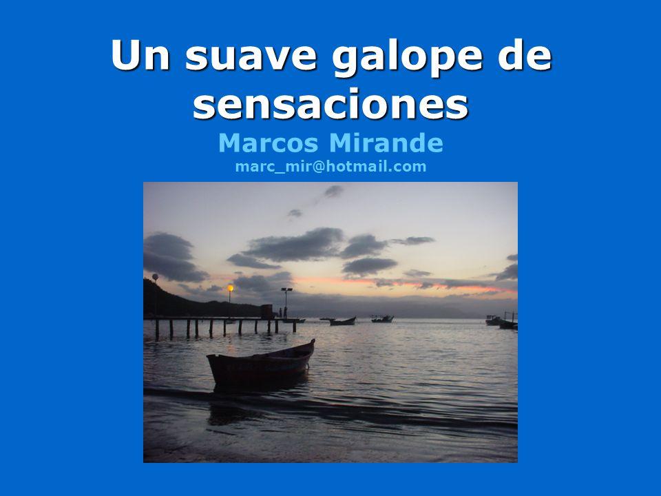 Un suave galope de sensaciones Un suave galope de sensaciones Marcos Mirande marc_mir@hotmail.com