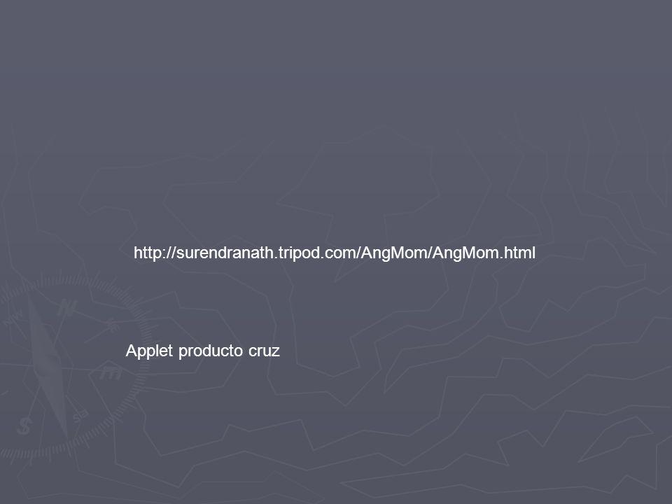 http://surendranath.tripod.com/AngMom/AngMom.html Applet producto cruz