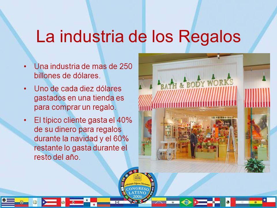 La industria de los Regalos Una industria de mas de 250 billones de dólares.